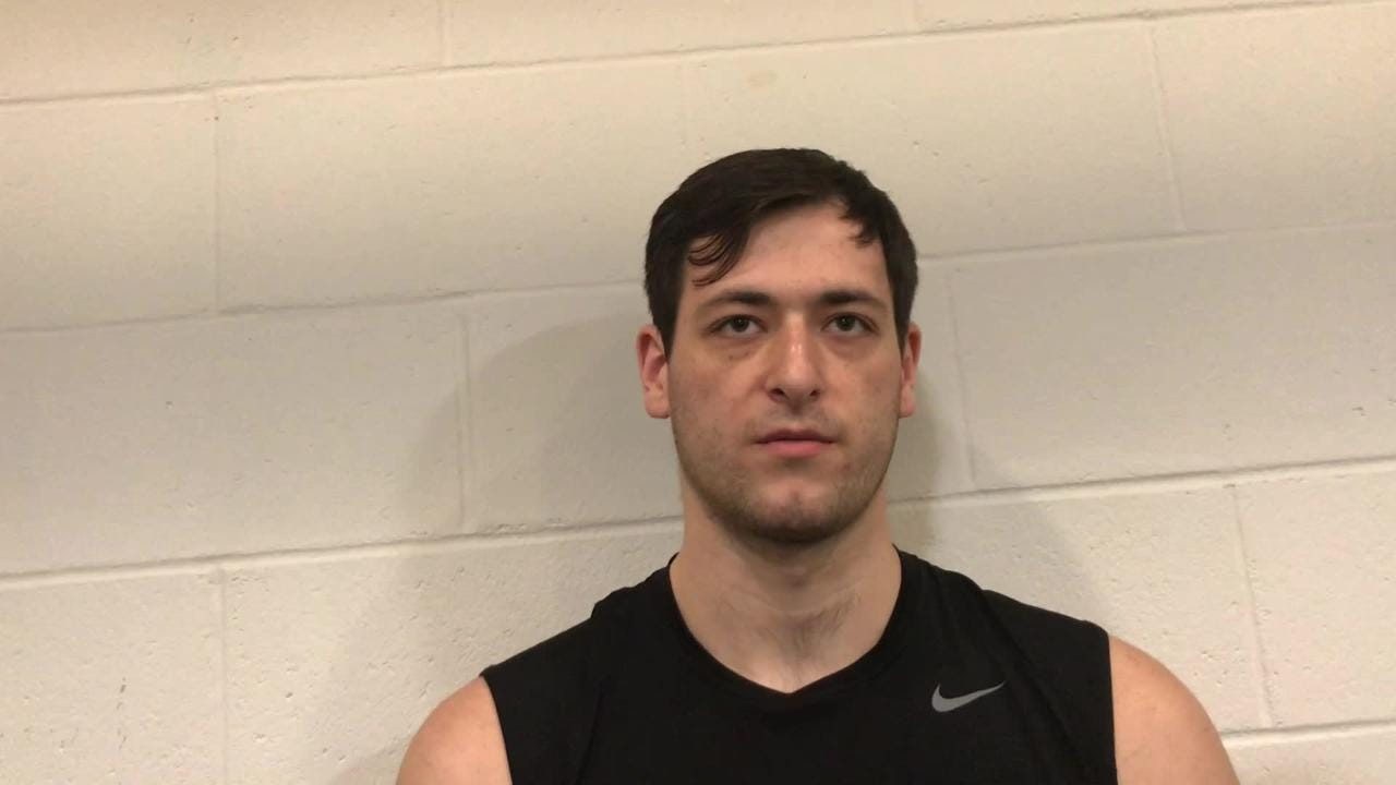 Iowa center Ryan Kriener says being healthy has been a big advantage for him this season. Why else is he playing well? Listen in: