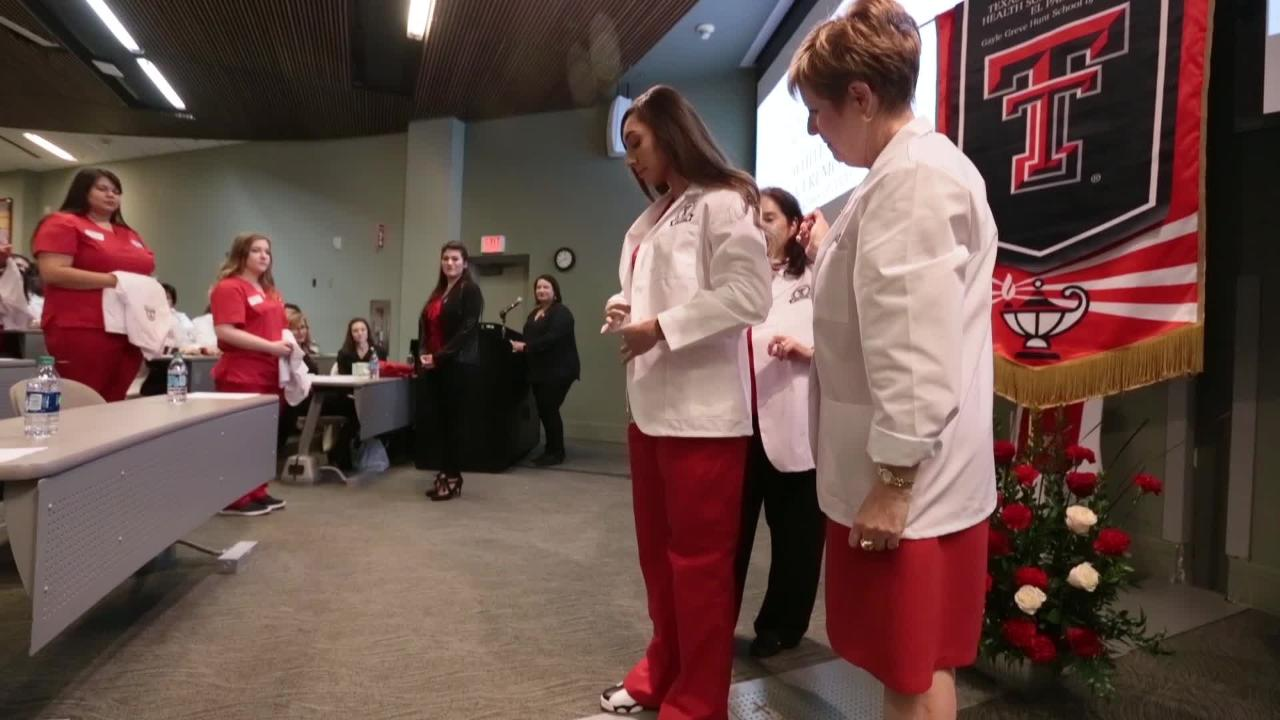 The Gayle Greve Hunt School of Nursing held their first ever white coat ceremony Friday.