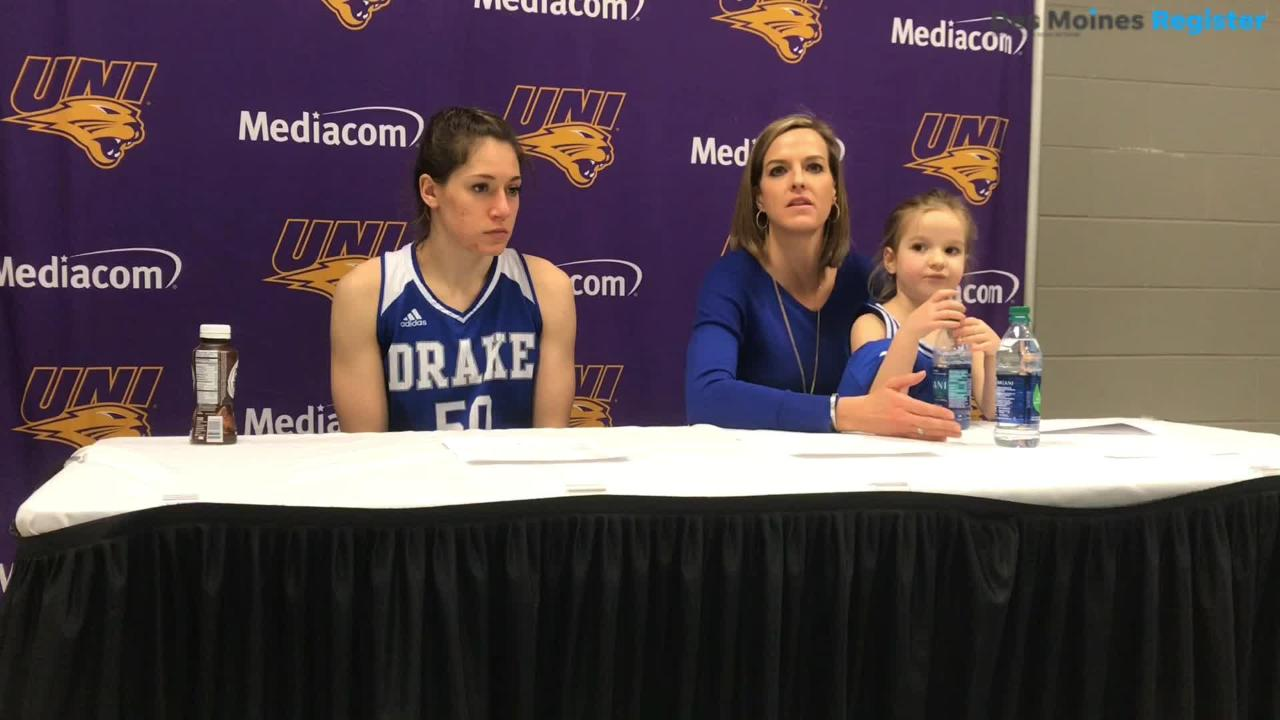 Drake coach Jennie Barancyzk breaks down how the Bulldogs pulled away in the fourth