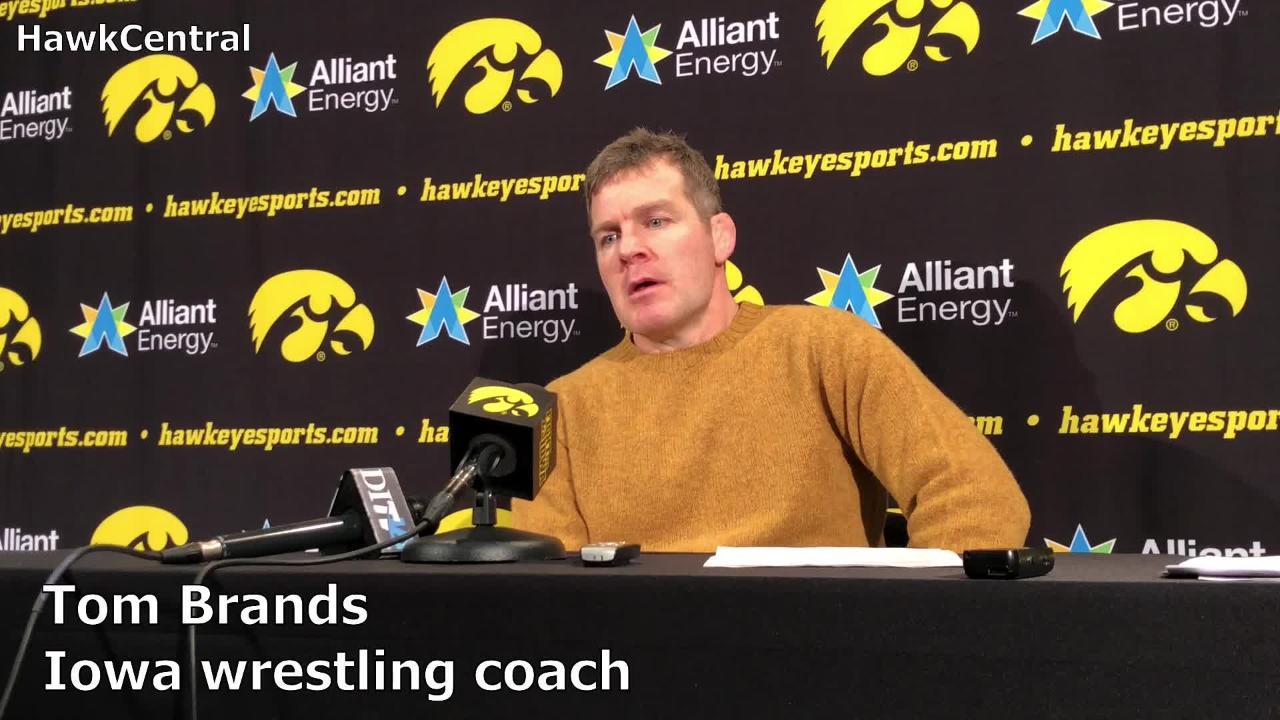 Iowa wrestling coach Tom Brands recaps the Hawkeyes' 30-6 win over Rutgers