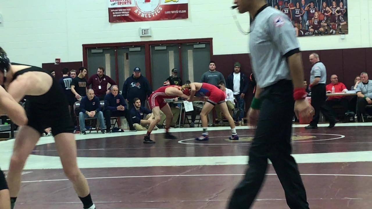 Chenango Forks' Logan Gumble wrestles CV's Nate Lehr in the 132 final while CV's Colton Volpe opposes Windsor's Langdon Sibley in the 138 final.