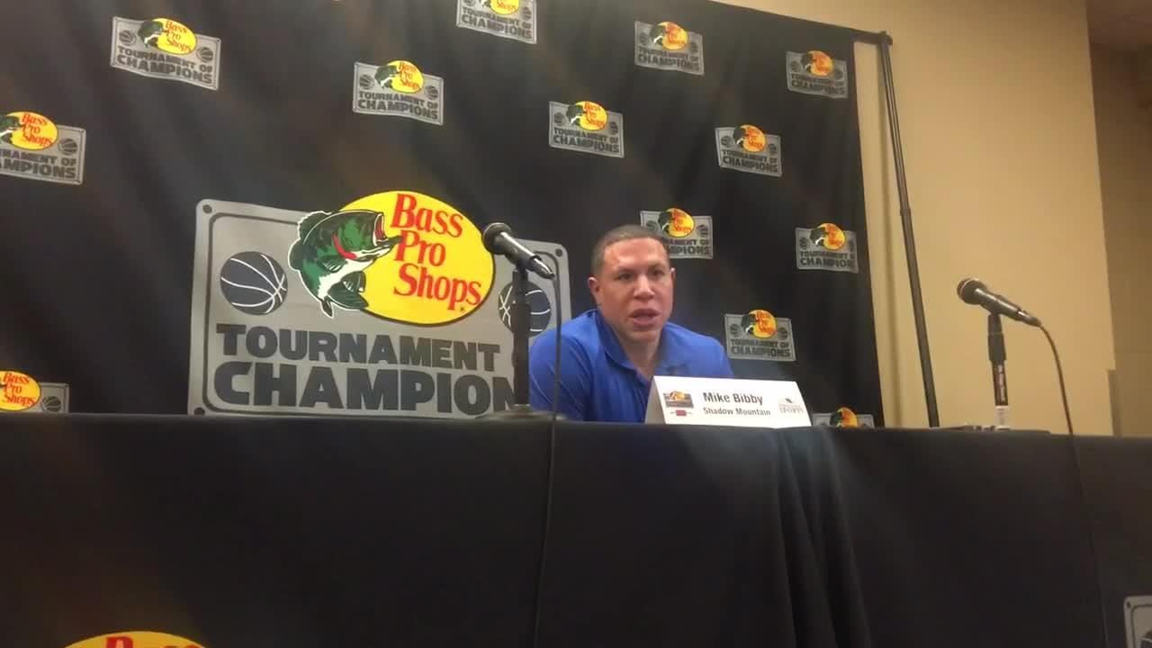 Shadow Mountain head coach Mike Bibby responds to questions about his team's chippiness in a loss to McEachern.