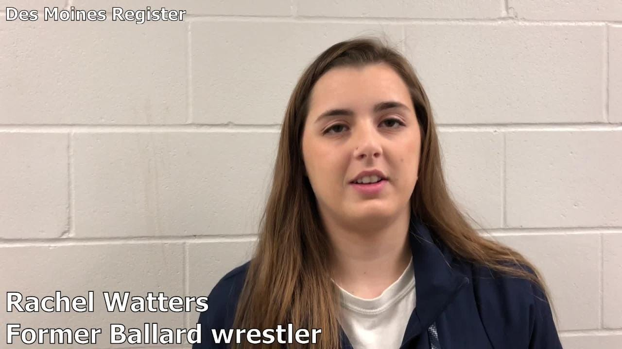 Rachel Watters wrestled at Ballard (Huxley) from 2012-16. She came to Waverly on Saturday to watch the IWCOA girls' wrestling state tournament.
