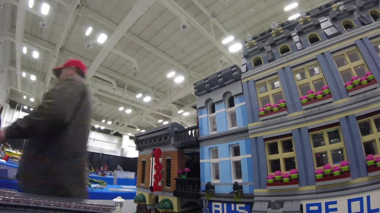 Thomas Morrow has taken about three years to create his Lego town. You can see it this weekend at BrickUniverse in Louisville.