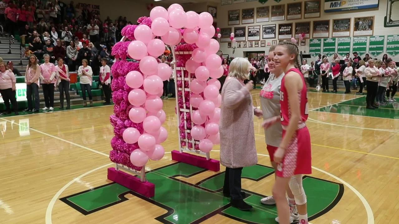 Pink Out game supports breast cancer survivors at Triton Central