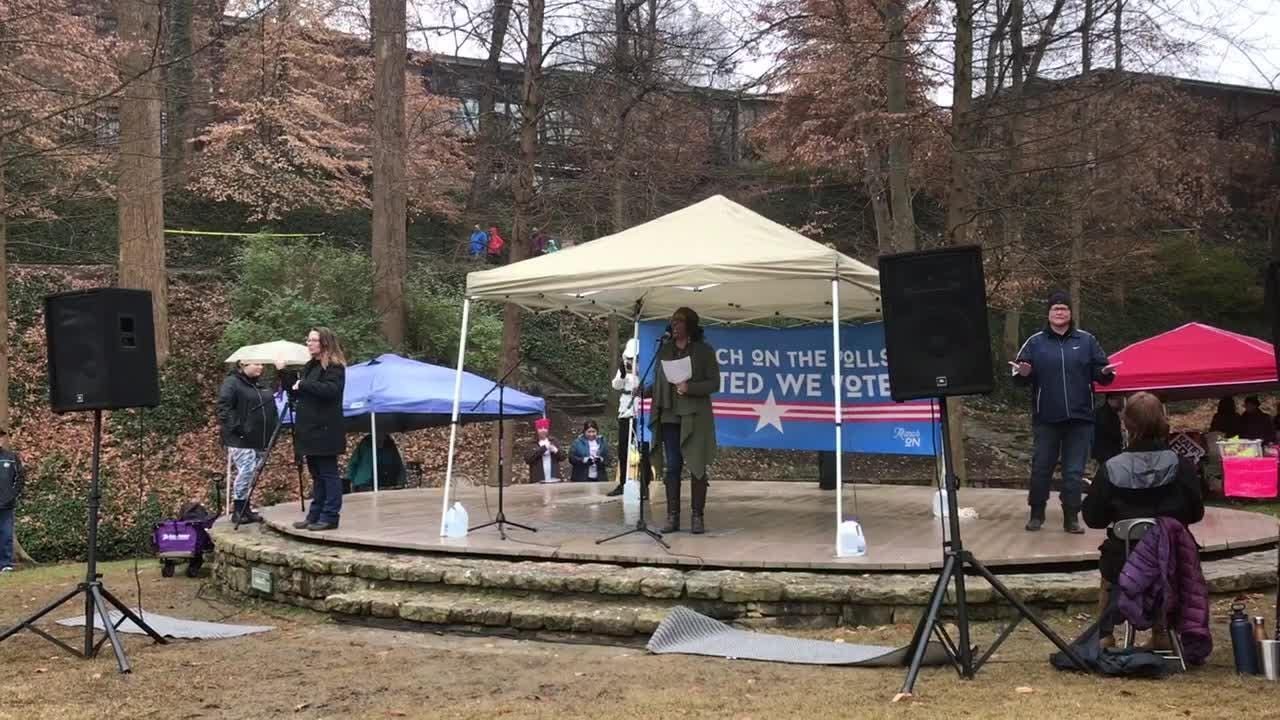 The 2019 Greenville Women's March was held at Falls Park in downtown Greenville on Saturday, January 19, 2019.
