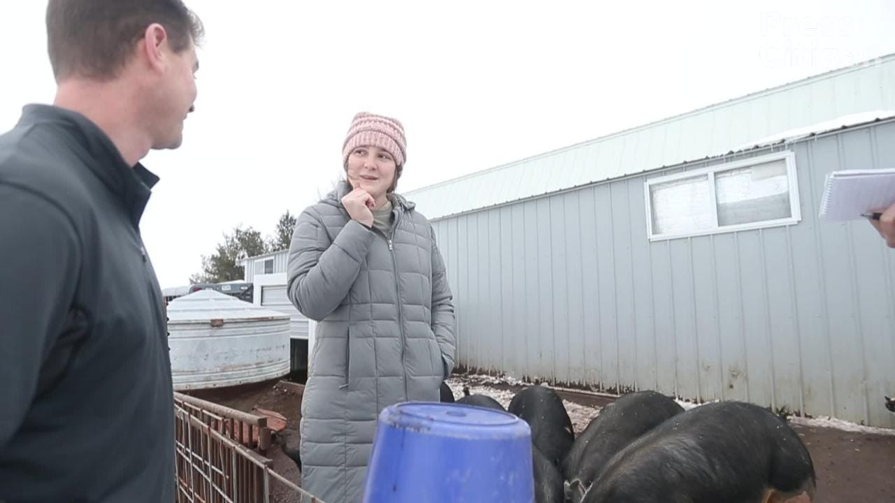 Hear from Emily Harold, a West Branch senior and owner of Natural Oak Pork, on her pork business.