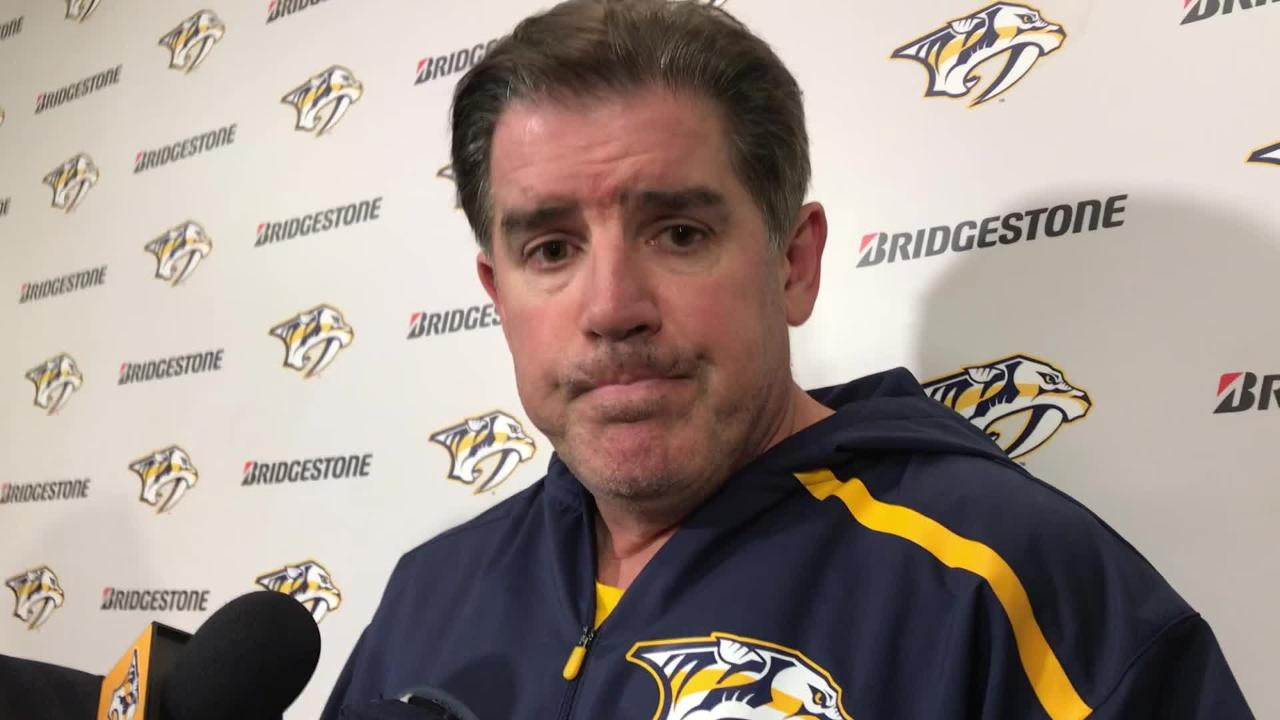 Predators coach Peter Laviolette on Ryan Johansen's suspension