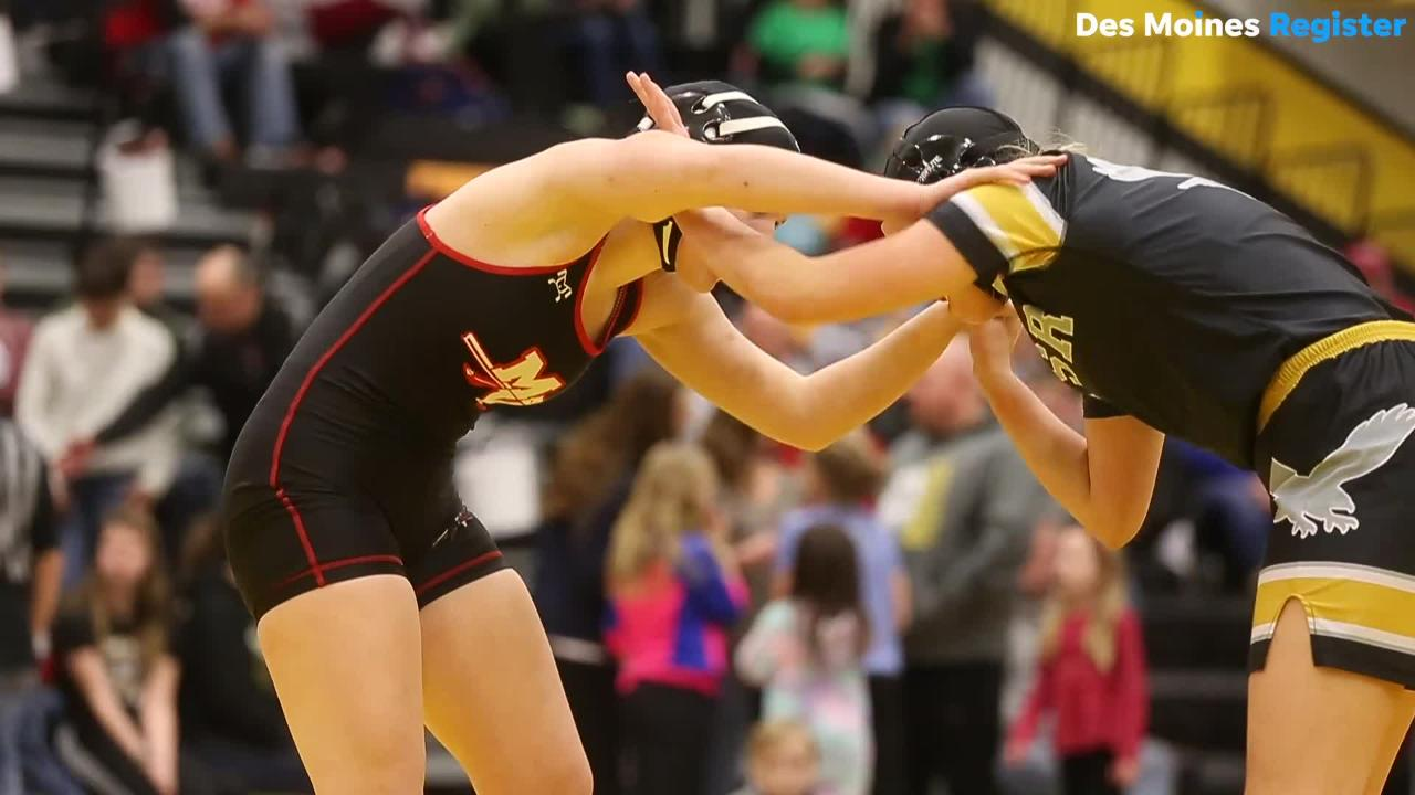The first ever Iowa girls high school state wrestling tournament was held on Saturday in Waverly.
