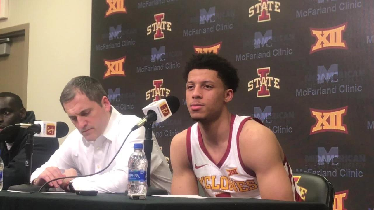 Iowa State's Lindell Wigginton talks about his big game against Oklahoma State