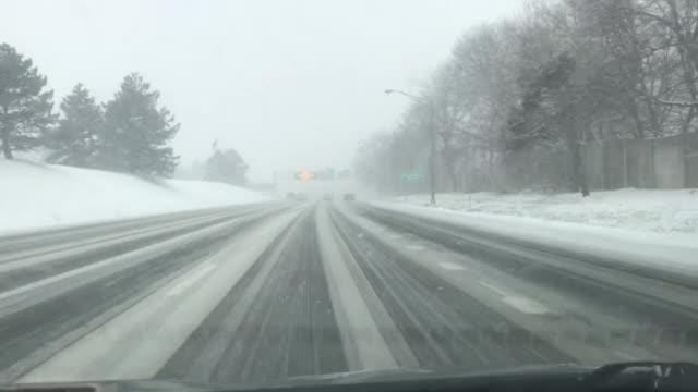Snow is starting to pick up along Interstate 490 in Rochester. The winter storm is expected to bring heavy snow from the Midwest into the Northeast through Sunday, making travel extremely dangerous.
