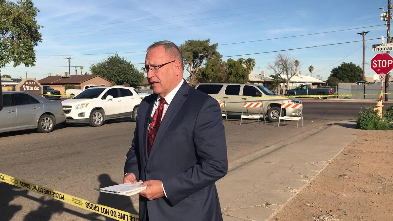 Phoenix police spokesman Sgt. Tommy Thompson said the two vehicles collided near the 6000 block of W. Thomas Road shortly before 7 a.m. Sunday.