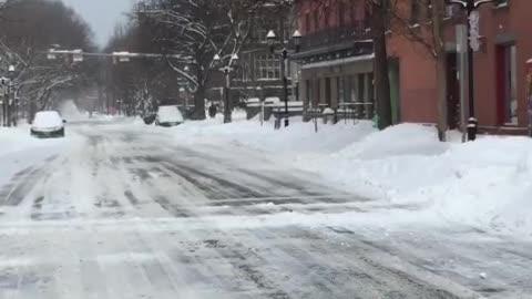 Winter Storm Harper dumps snow on Ithaca.