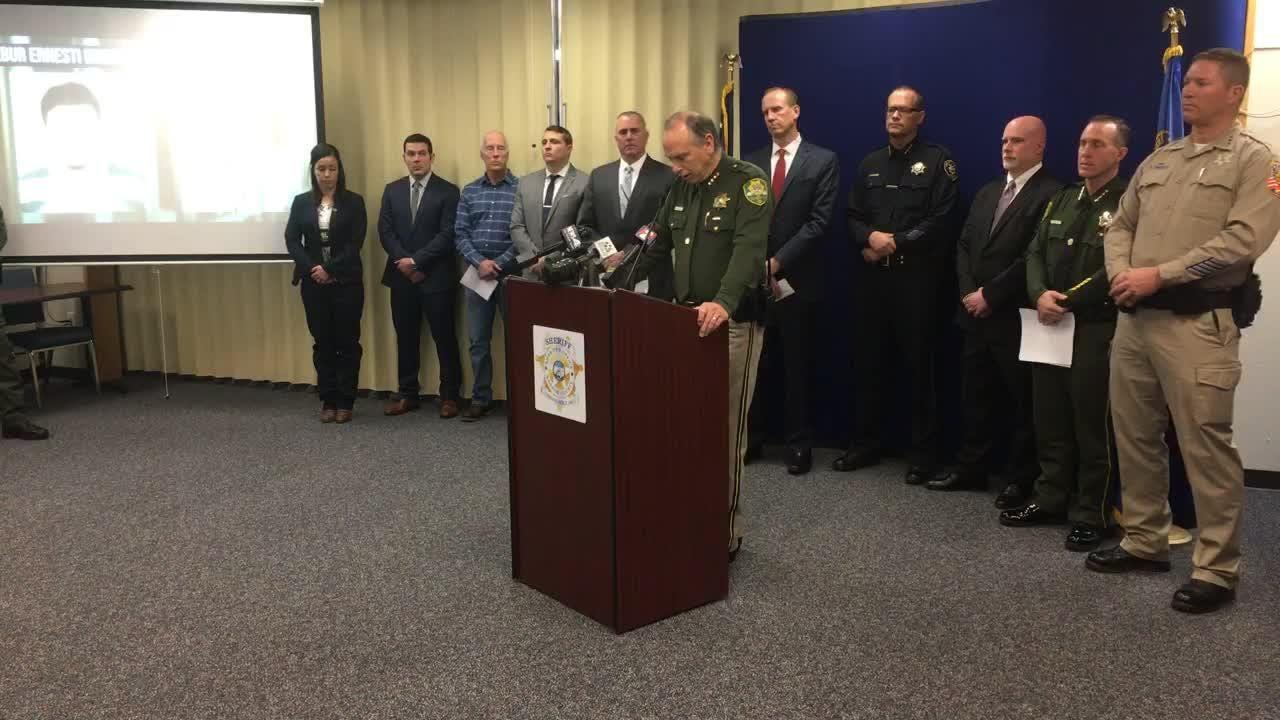 Northern Nevada law enforcement share news of Wilbur Martinez-Guzman's arrest in connection to four murders.