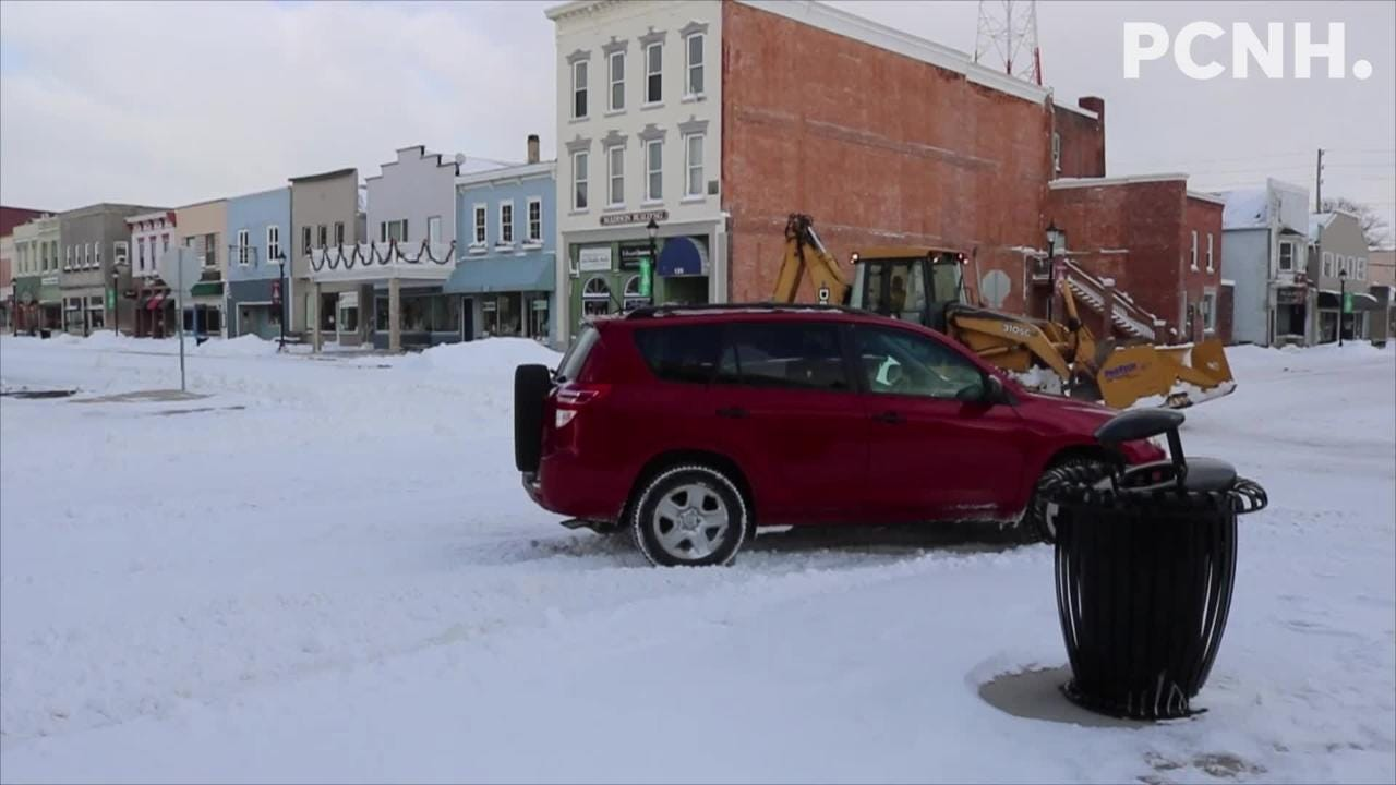 Crews continued to plow throughout the weekend after Winter Storm Harper dropped around half a foot of snow on the area.