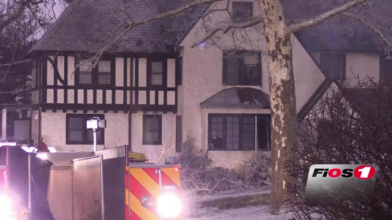 Firefighters battle three-alarm fire in Scarsdale