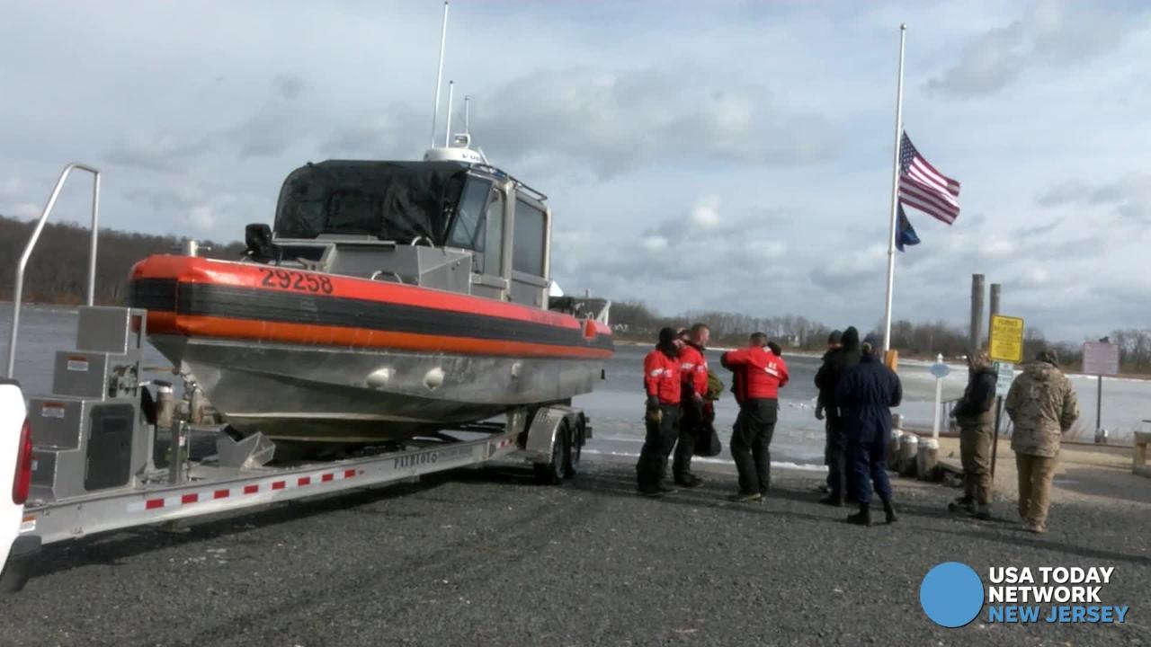 The Coast Guard rescued a stranded duck hunter from a Navesink River island off Rumson.