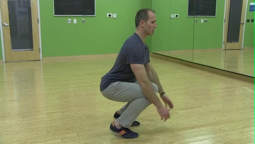 The Hindu squat adds a challenge to those deep knee bends.