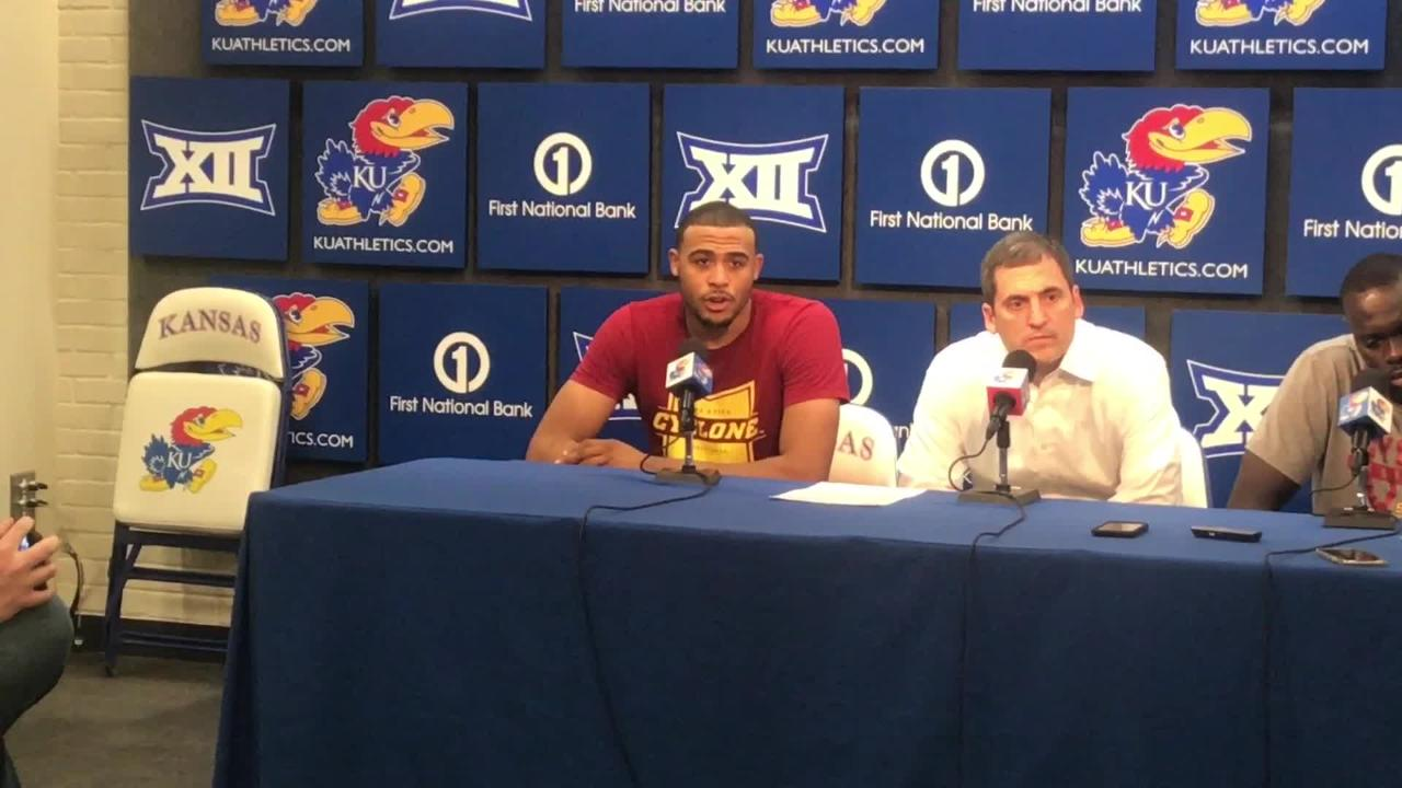 Iowa State'es Talen Horton-Tucker on what went wrong in the second half against Kansas.