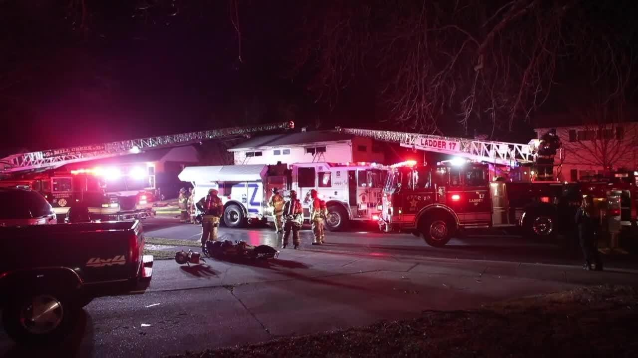 Fire crews responded a house fire Monday night in the 4500 block of Roslyn Dr.  1/22/18