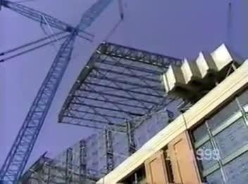 Video recorded by a federal Occupational Safety and Health Administration official shows the Big Blue crane collapse at Miller Park on July 14, 1999.
