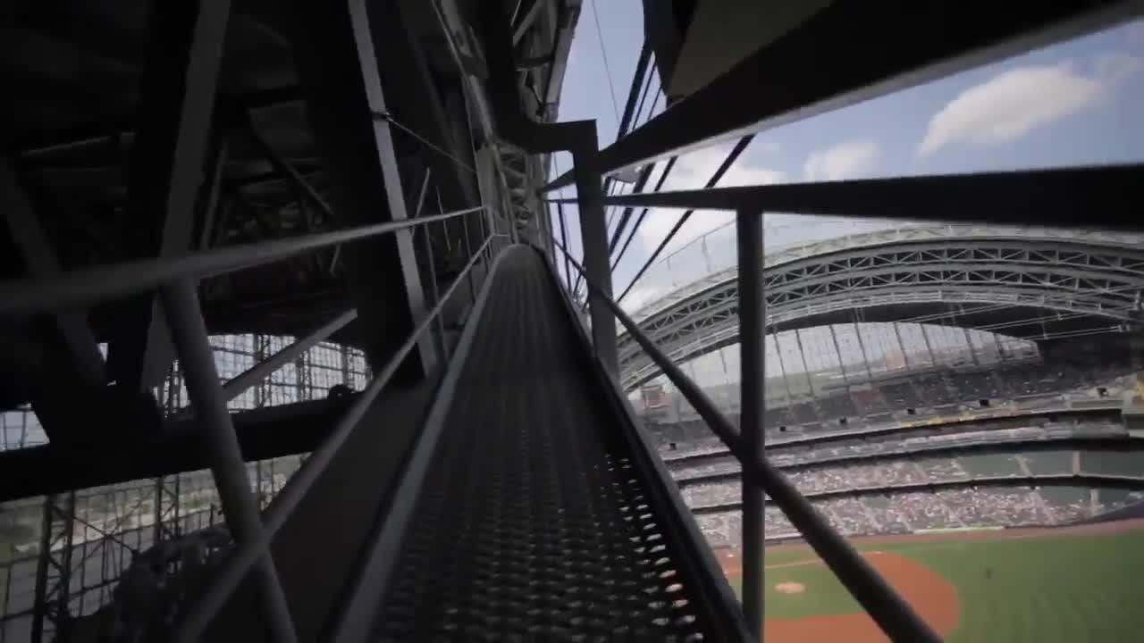 Take a climb up to the Milwaukee Brewers' Miller Park catwalk.