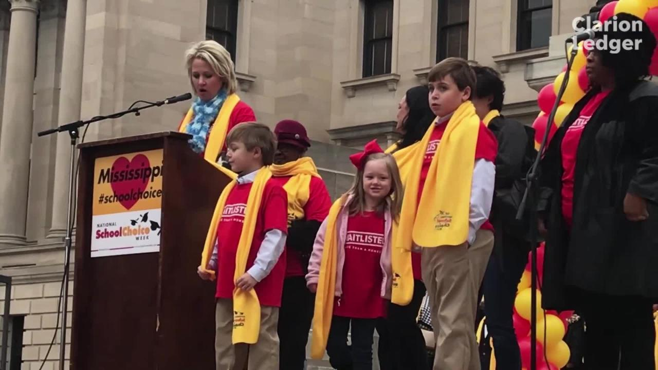 National School Choice Week kicks off at the capitol. Teachers, parent, students attend to advocate and lobby legislators for funding. Jackson, Miss. Tuesday, Jan. 22, 2019.