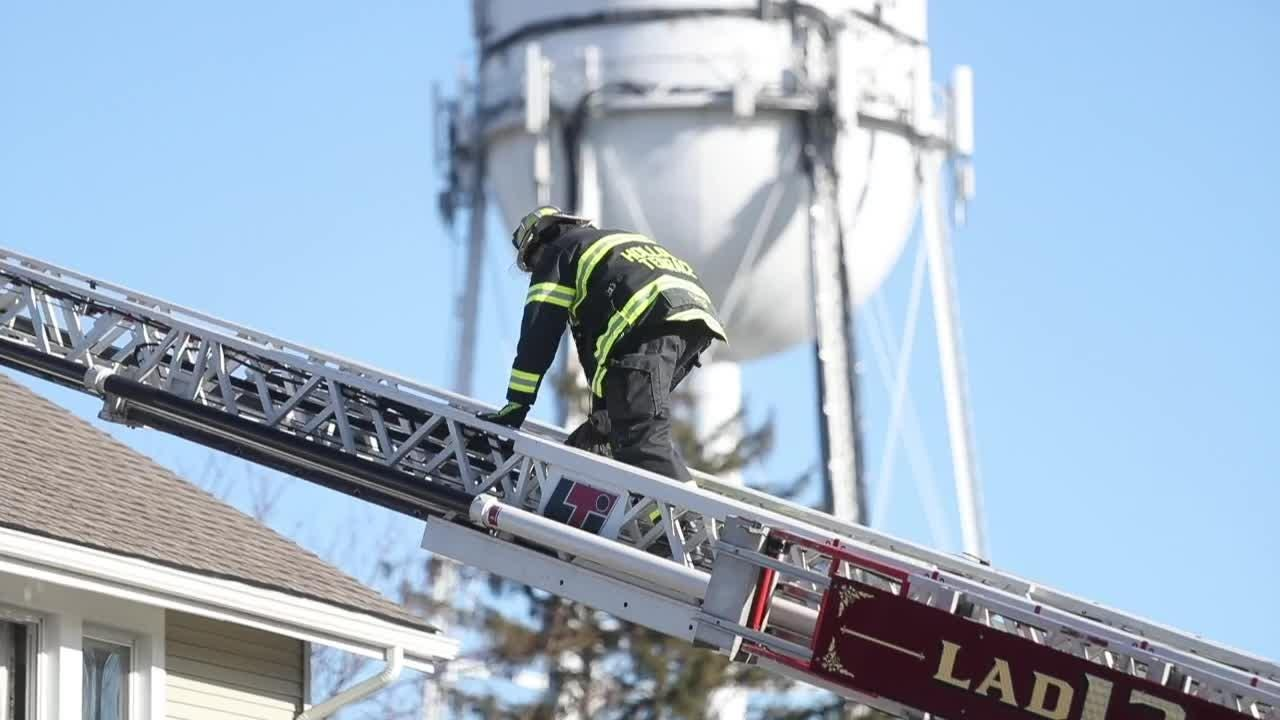 Raw Video: First responders on scene at Claymont house fire