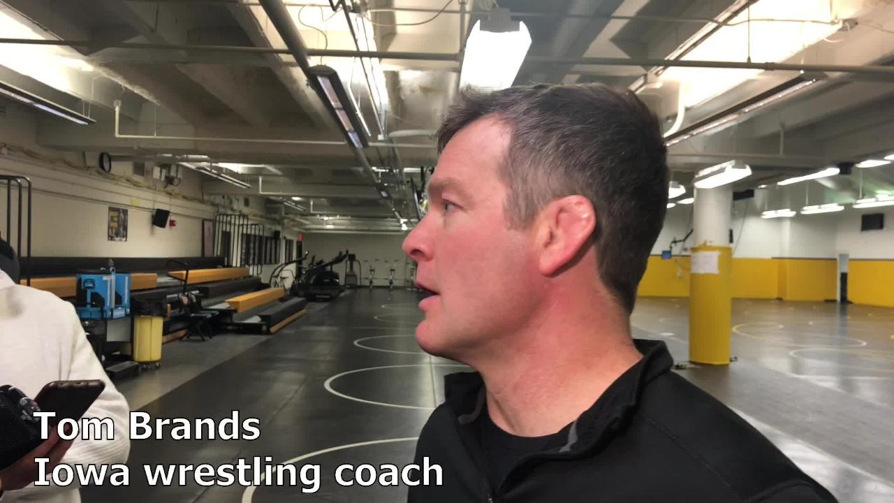 Iowa wrestling coach Tom Brands previews the Hawkeyes' duals road against Illinois and Northwestern.