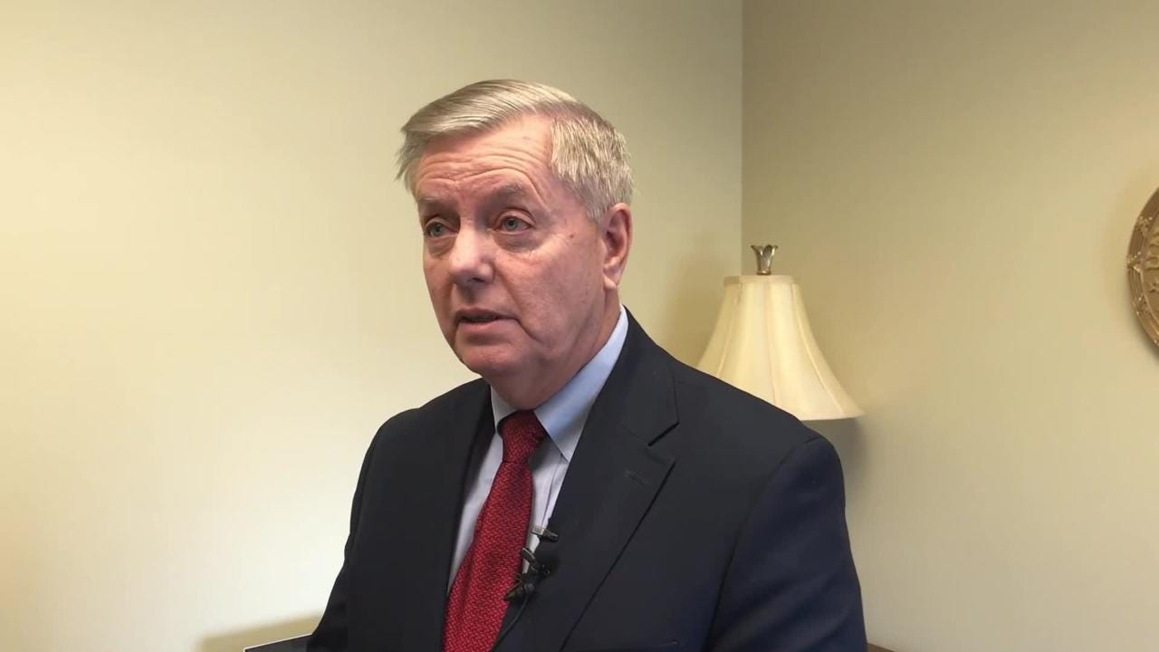 U.S. Sen. Lindsey Graham wants President Donald Trump to end the  government shutdown if Speaker Nancy Pelosi takes up a bipartisan Senate measure.