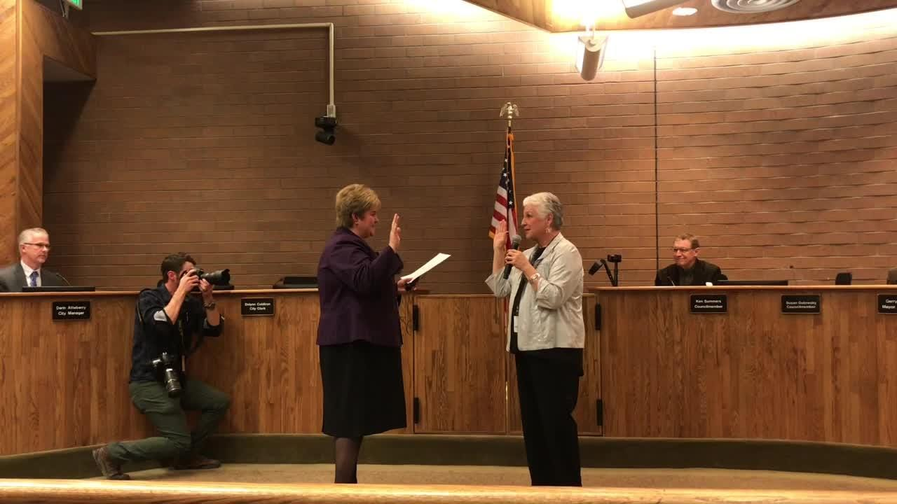 Susan Gutowsky took the oath of office for Fort Collins City Council on Tuesday to formally replace Bob Overbeck.