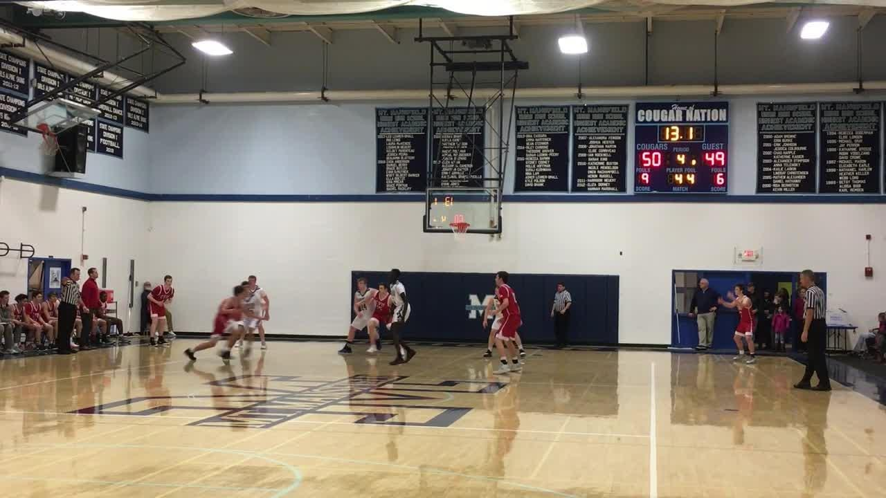 Cougars come up with a defensive stop to preserve the lead in their eventual 52-49 win over the Redhawks