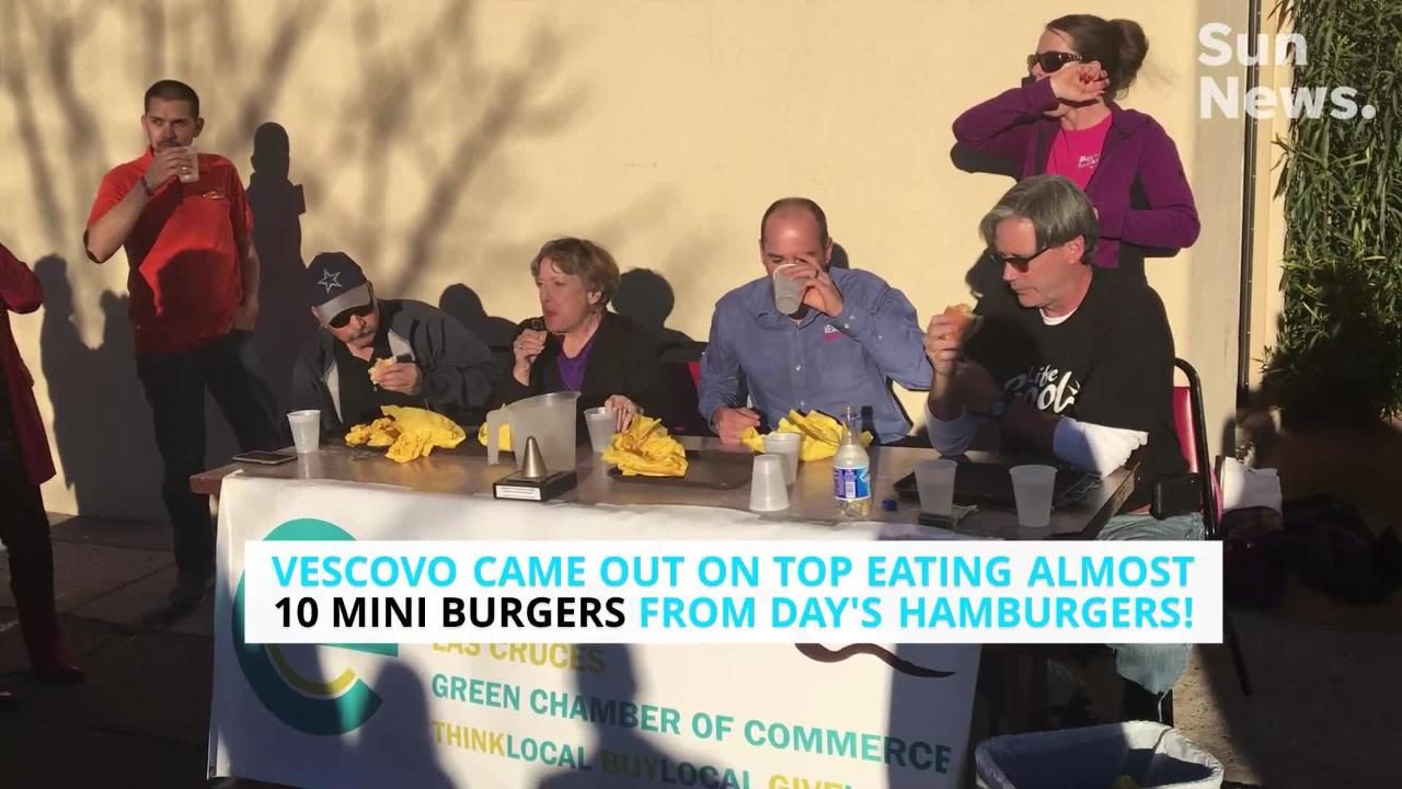 Civic leaders and small business owners scarfed down as many  hamburgers they could for a good cause Wednesday at Day's Hamburgers, 295 N. Main St.