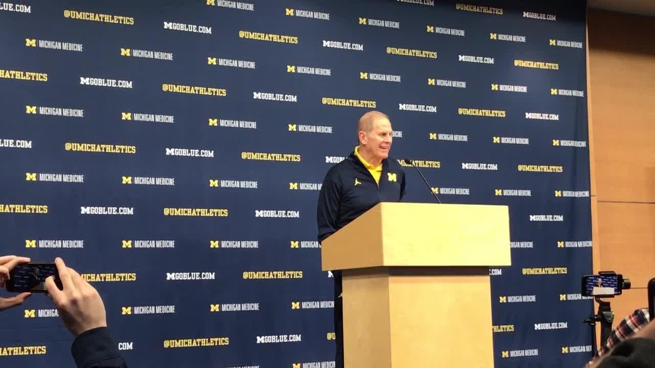 Michigan basketball coach John Beilein speaks to the media on Thursday, Jan. 24, 2019, in Ann Arbor.