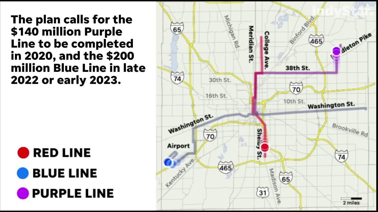 Blue and Purple lines Indianapolis: What happens after the ...