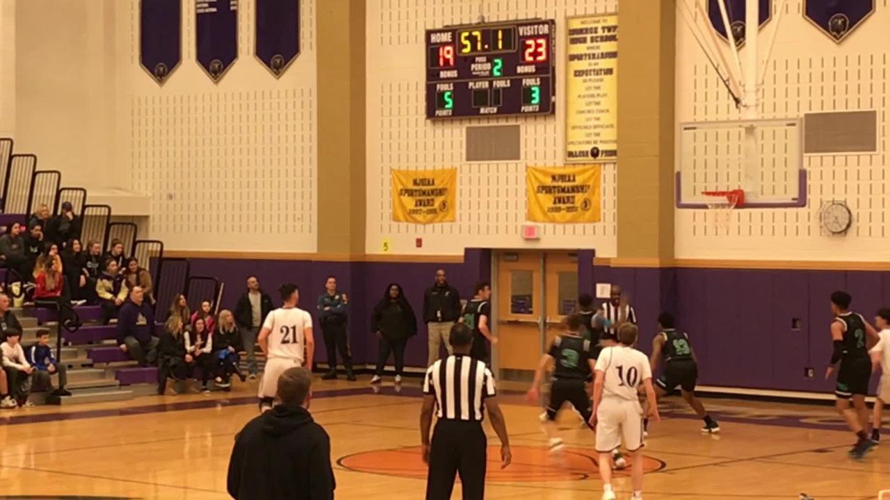 The St. Joseph (Met.) boys basketball team defeated Monroe 54-43 on Thursday, Jan. 24, 2019.