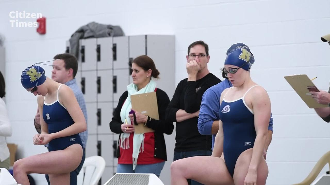 Buncombe County swimmers held their first meet in the new Buncombe County Aquatic Center on Jan. 24, 2019.