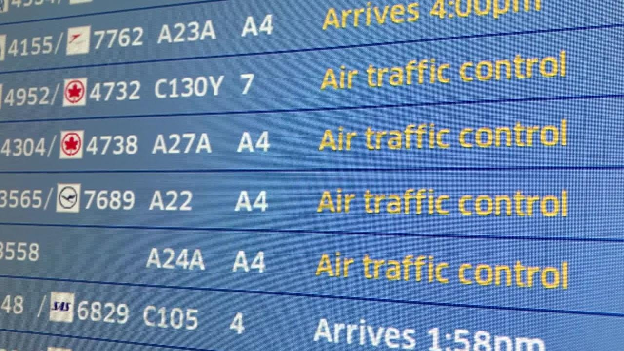 Raw video: Flight delays at Newark airport amid government shutdown