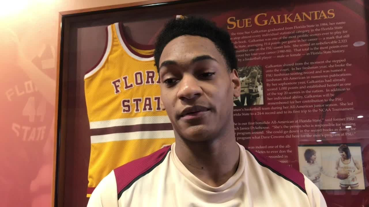 FSU freshman guard Devin Vassell spoke to the media for the first time Friday.