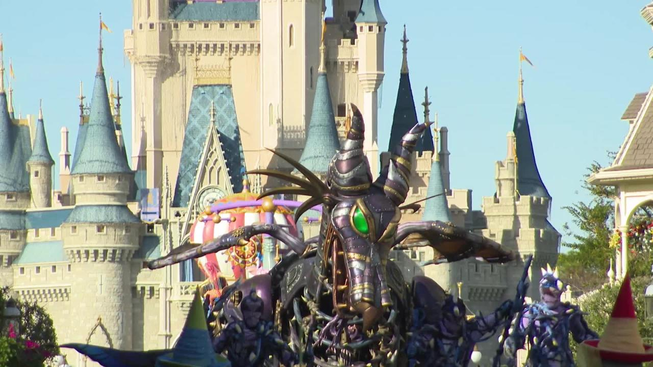 Maleficent Returns to Festival of Fantasy Parade at Magic Kingdom Park after catching fire