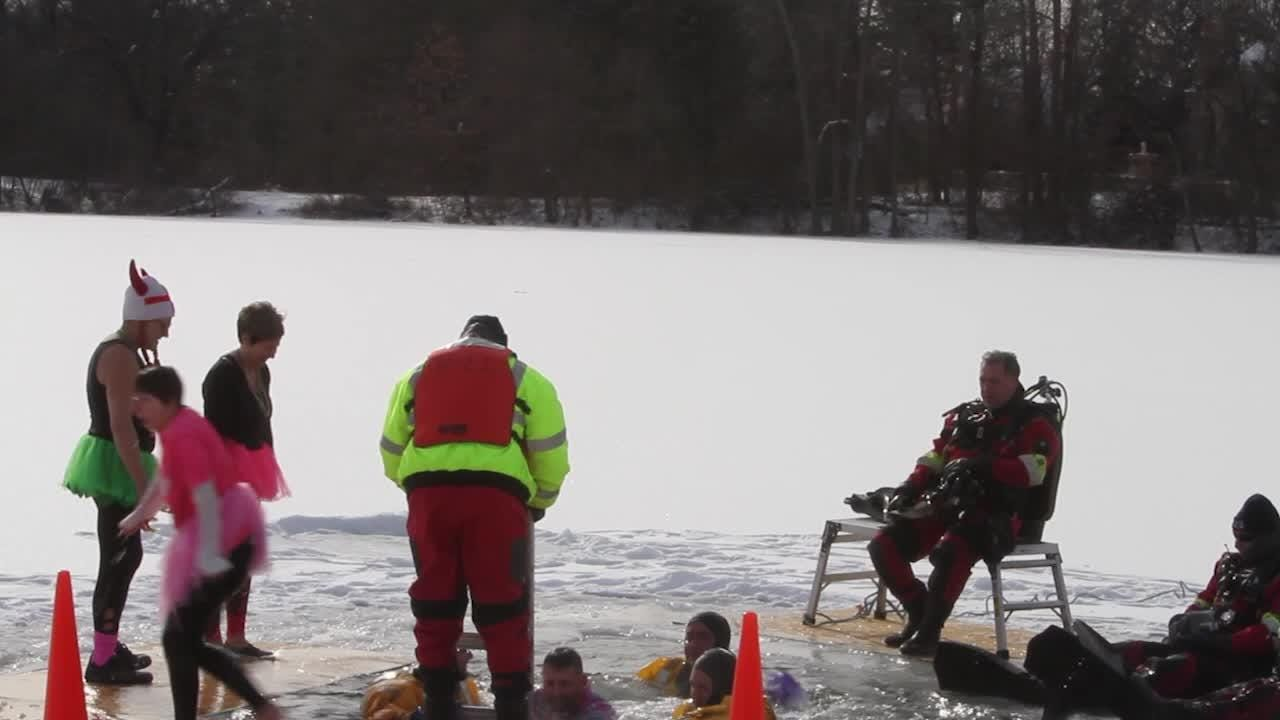Polar Plunge benefiting Special Olympics Michigan brings out enthusiastic crowd,