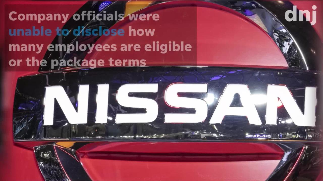 Nissan's buyouts affect some salaried workers 55 and older