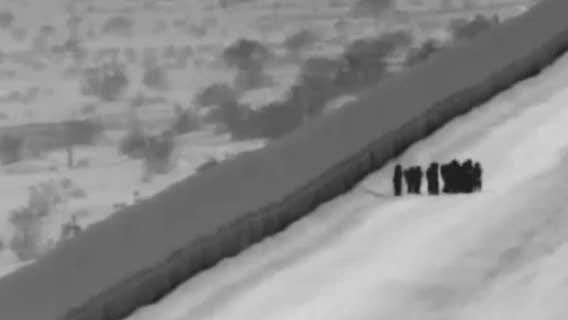 A U.S. Customs and Border Protection video shows the moment a 3-year-old girl traveling with her mother and a group of asylum seekers fell 16 feet from the top of the border fence east of the San Luis port of entry near Yuma. The girl sustained minor injuries.