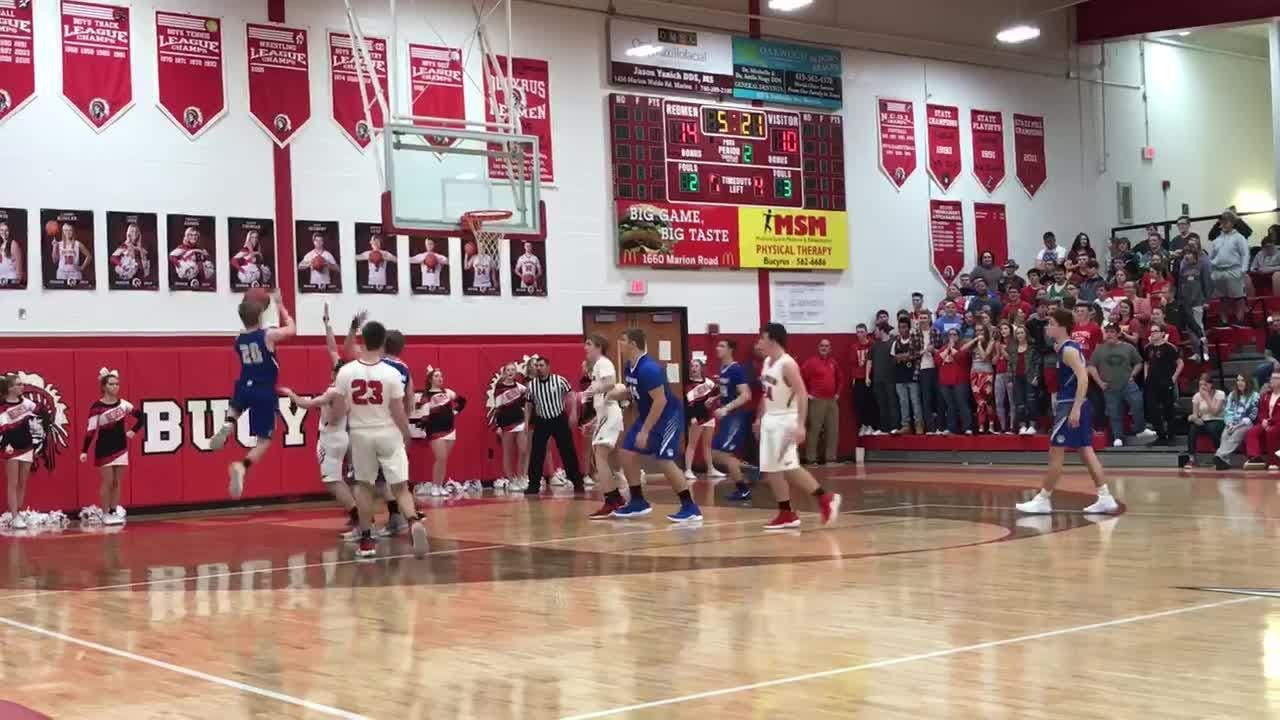 Against rival Bucyrus, Wynford junior Josh Crall scored his 1,000th point midway through the second quarter.