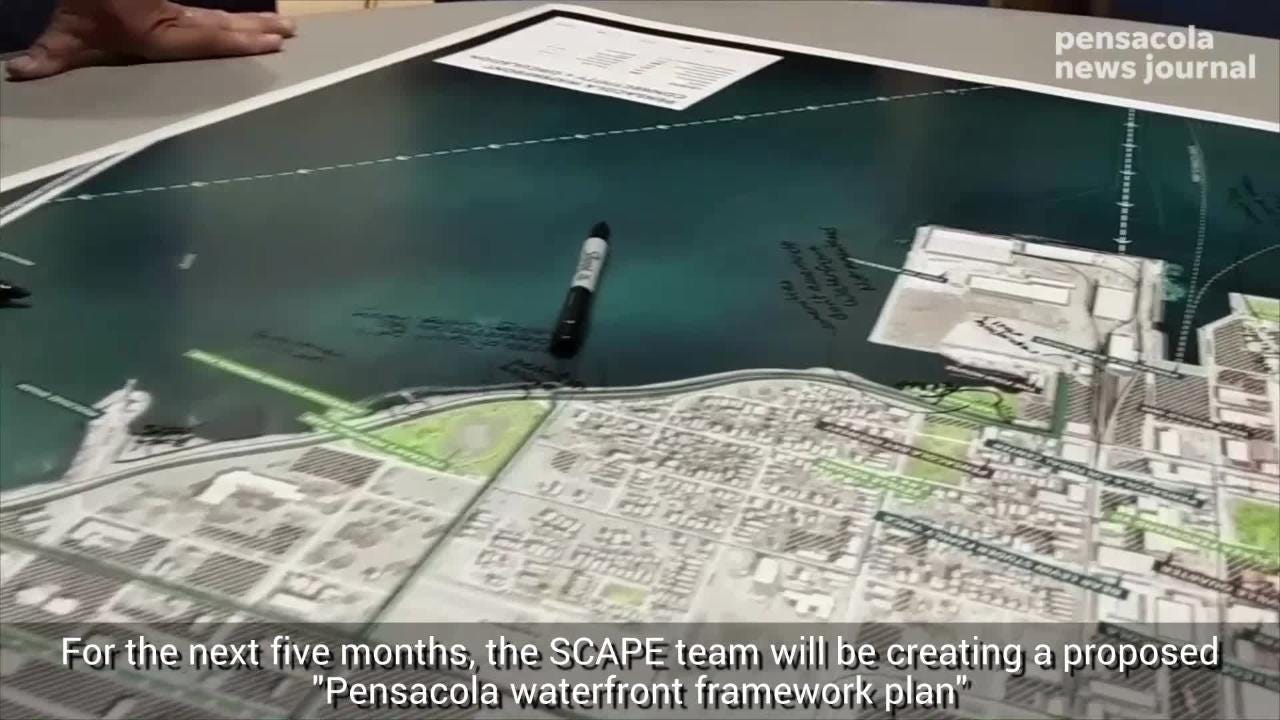 SCAPE met with Pensacola residents for a kickoff meeting on how to improve the downtown Pensacola waterfront