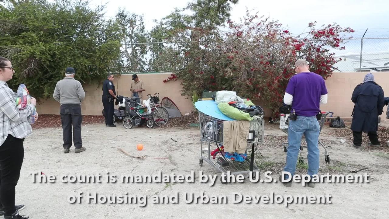 Teams take part in annual Point-In-Time homeless count in Indio