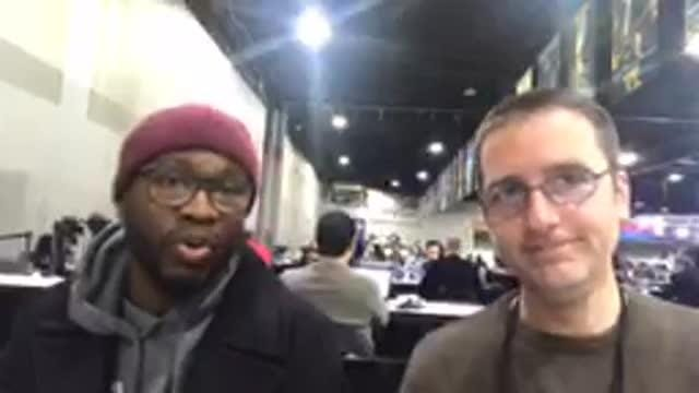 Former Detroit Lions running back Justin Forsett talks about Darrell Bevell and his ShowerPill business on Tuesday, Jan. 29, 2019, in Atlanta.