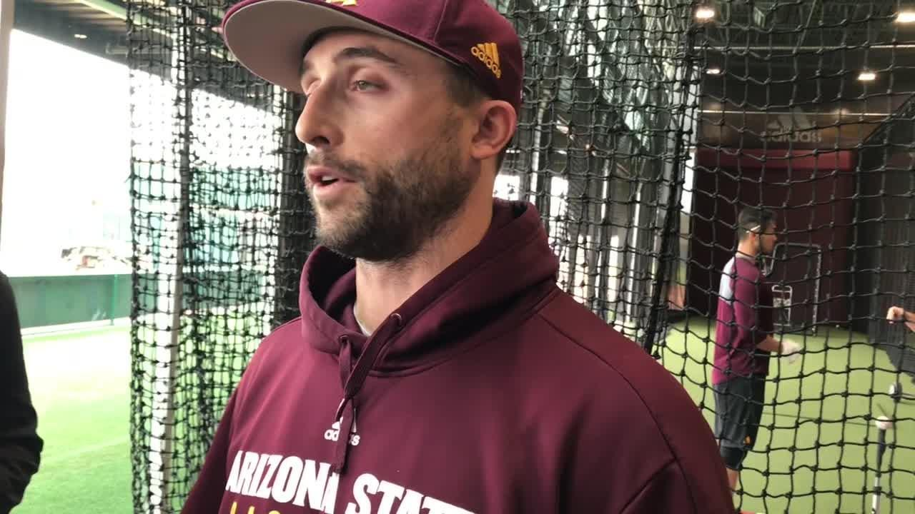 ASU hitting coach Michael Earley on new Malone hitting complex at Phoenix Municipal Stadium