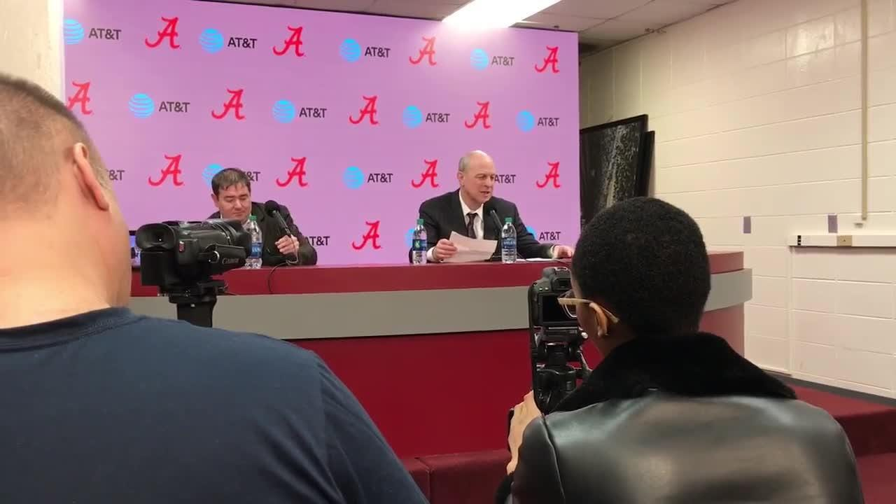 Mississippi State head coach Ben Howland talks loss to Alabama.