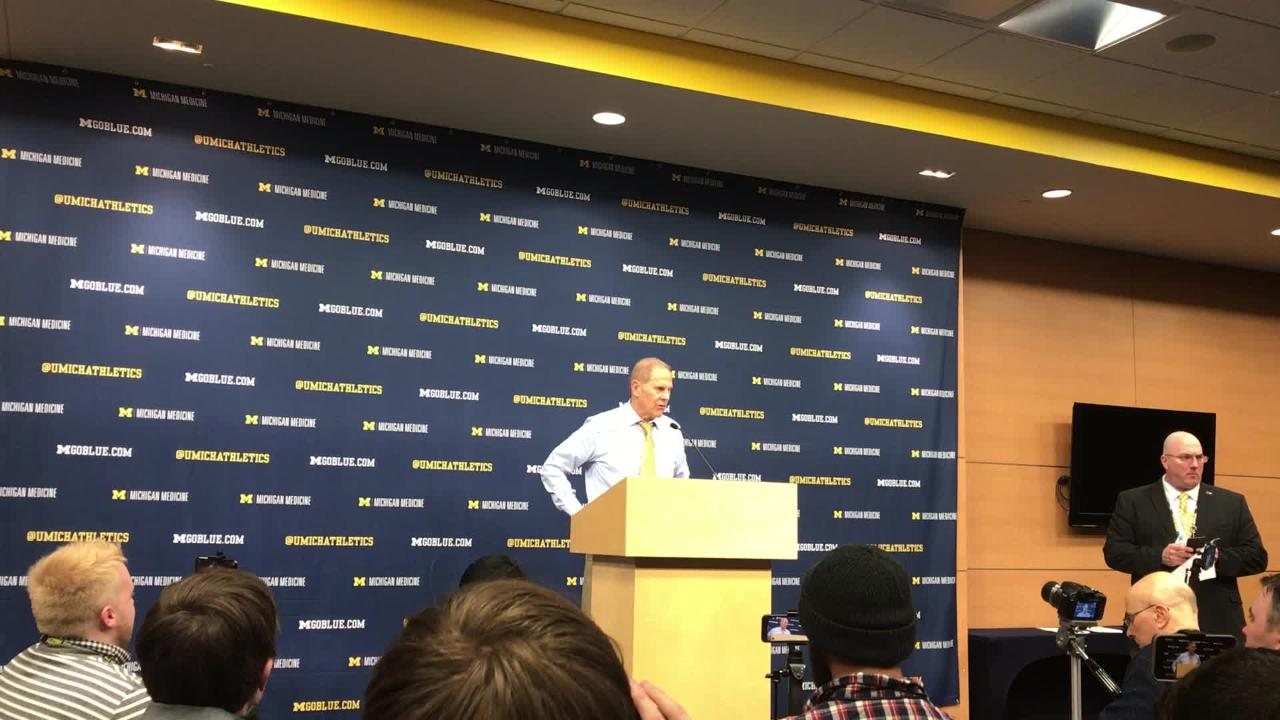 Michigan basketball coach John Beilein speaks to the media after the 65-49 win over Ohio State on Tuesday, Jan. 29, 2019, at Crisler Center.